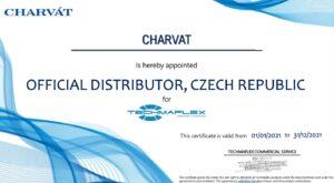 Techmaflex Official Distributor Certificate